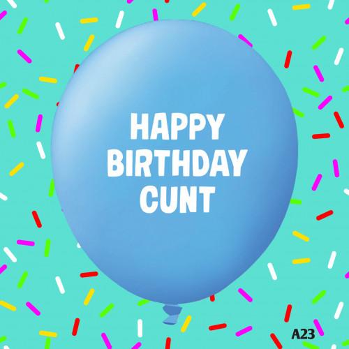 Birthday C#nt Balloon