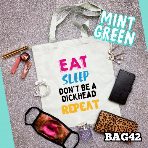 Eat Sleep Tote Bag