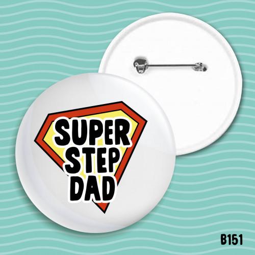 Super Step Dad Badge
