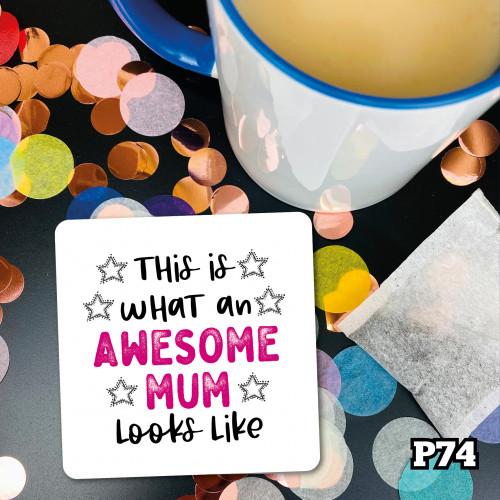 Awesome Mum Coaster