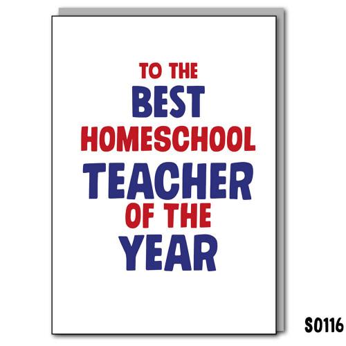 Homeschool Teacher Card