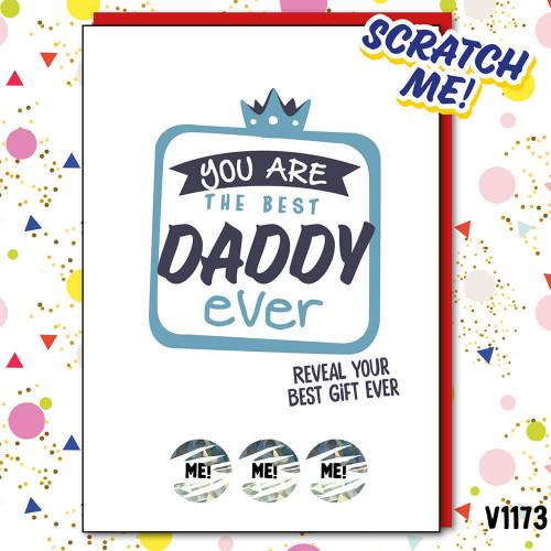 Best Daddy Ever Scratch Card
