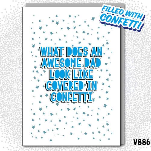 Awesome Dad Confetti