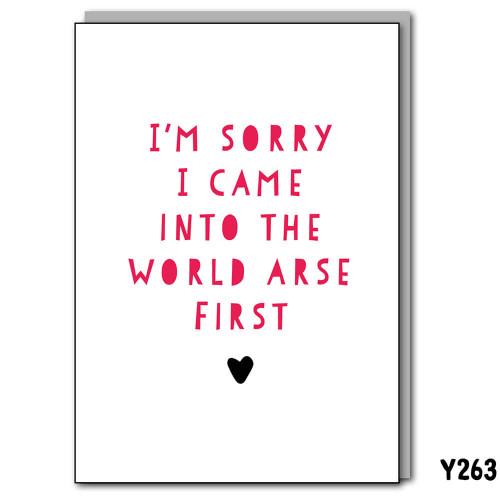 Arse First