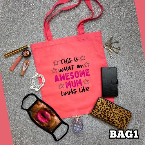 Awesome Mum Tote Bag