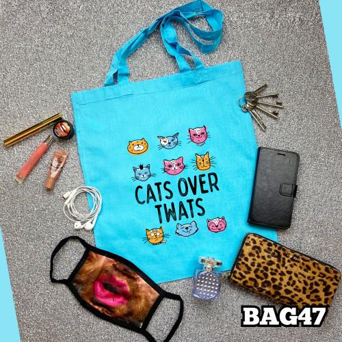 Cats  Over Twats Tote Bag